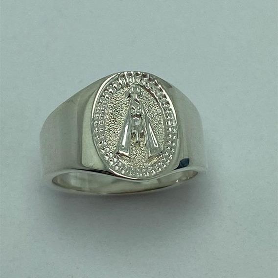 Anel Nossa Senhora De Aparecida De Prata 0,950 K