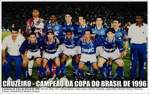 Pôster Do Cruzeiro - Campeão Copa Do Brasil De 1996 - R$ 24,90 em ...
