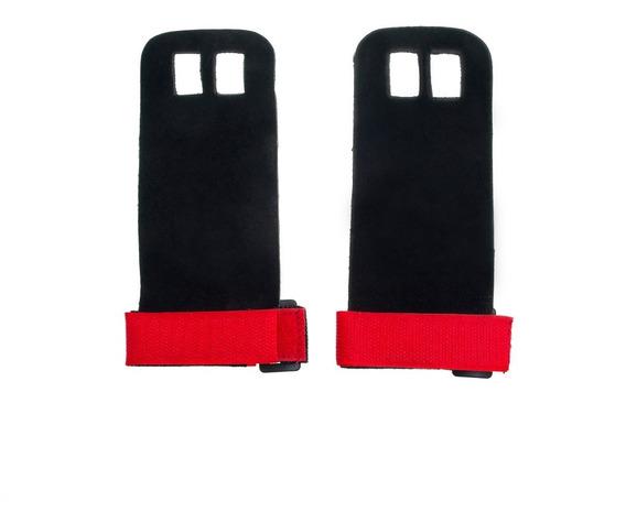 Calleras Negras Con Rojo De Piel Crossfit Pc