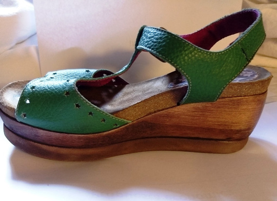 Zapatos Sandalias Cuero Con Plataforma Sofi Martire