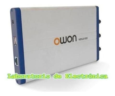 Osciloscopio Digital Owon Usb Pc 100mhz 4 Canales Vds3104