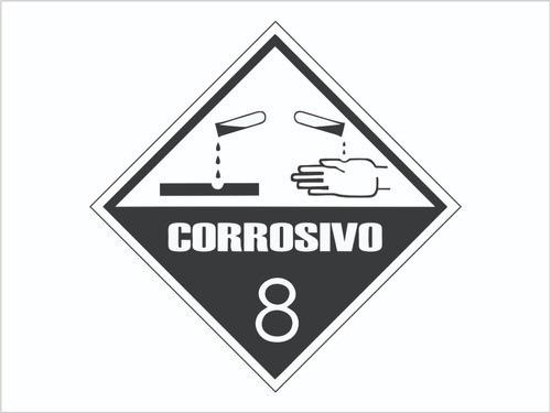Transporte De Risco Perigoso Corrosivo 8 / Adesivo Refletivo