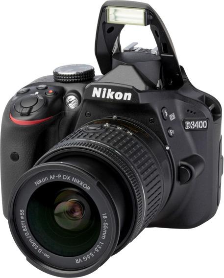Nikon D3400 Kit 18-55 24mp Bluetooth Full Hd Nueva Reflex
