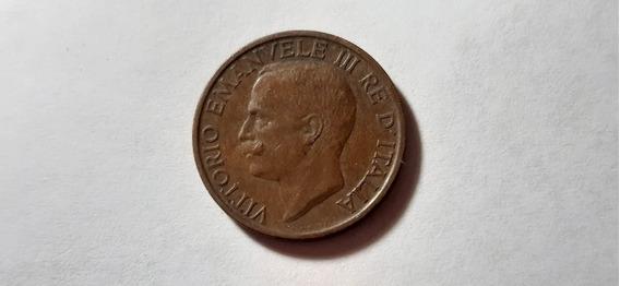 Moneda Italia 10 Centésimos, 1921 Cobre Km# 60 Lote 3807