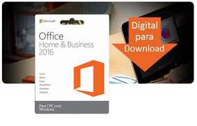 Office Home And Business 2016 Produto Físico.