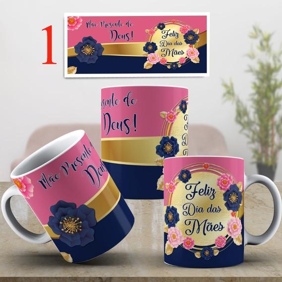 Caneca Porcelana Dia Das Mães 325ml + Caixinha Para Presente
