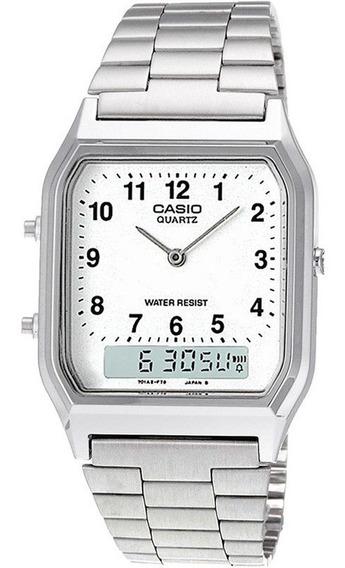 Relógio Casio Original Aq-230a Vintage Masculino Anadigi Nf