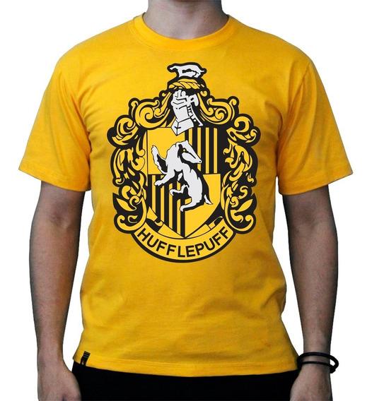 Camiseta Brasão Lufa Lufa Harry Potter
