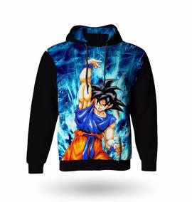 Blusa Moletom Manga Longa Dragon Ball Z Goku - Casaco Frio