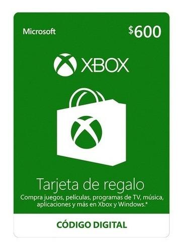 Imagen 1 de 2 de Microsoft Tarjeta Regalo Xbox $600 Pesos (código Digital)