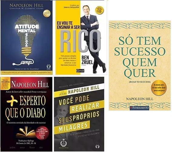 Napoleon Hill - Só Tem Sucesso Quem Quer + 4 Livros