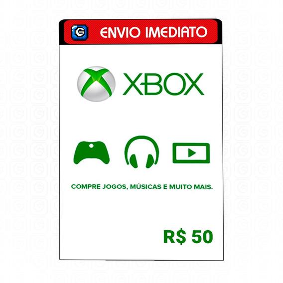 Microsoft Gift Card R$ 50 Reais Cartão Presente Xbox Live Br