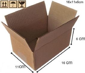 Caixas De Papelão Tam 16x11x6cm Sedex Pac 100 Unds