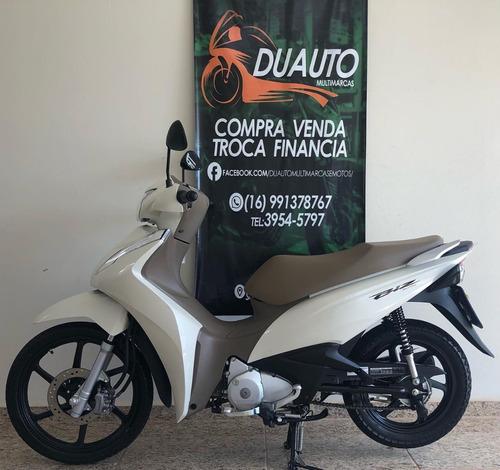 Honda Biz 125 2019 Branca Banco Caramelo Único Dono 1.300km