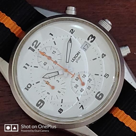 Relógio Lexon Glider Aço Pulseira Lona Maravilhoso Quartz