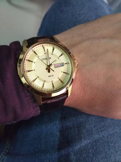 Relógio Citizen Original Com Pulseira De Couro