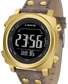 Relógio Lince Masculino Couro Quadrado Mdch069l Pxnx