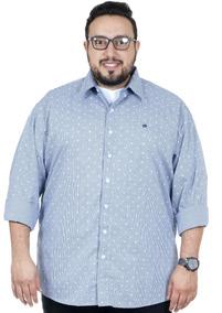 Camisa Plus Size Bigshirts Manga Longa Xadrez - Flor