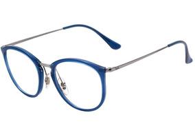 6f195f251 Oculos Redondo Rayban Grau Metal Azul - Óculos no Mercado Livre Brasil
