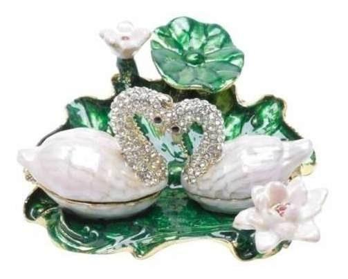 Porta-jóias De Zamac Em Forma De Cisne 8x9x4cm