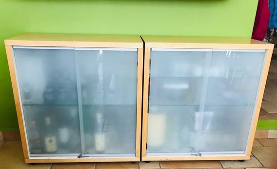 Vitrinas(2) Ikea Con Vidrio Templado C/u