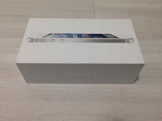 Caixa iPhone 5 Br 64g Com Manual E Chavinha Somente A Caixa