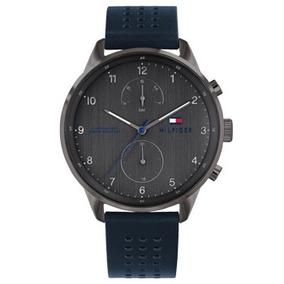 Relógio Tommy Hilfiger Masculino Couro Azul - 1791578