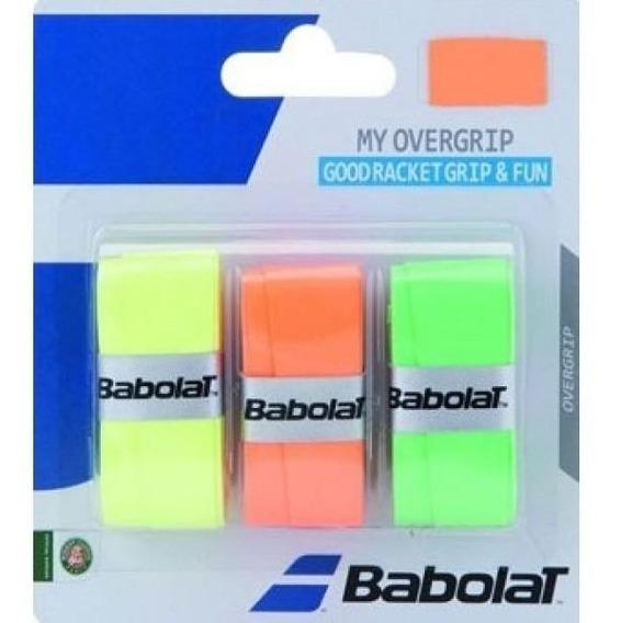 Overgrip Tenis Babolat X3 My Overgrip Amarillo/naranja/verde