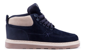 Bota Hocks Coruna Trail Navy Veludo