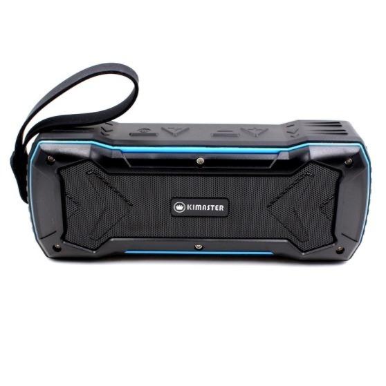 Caixa Som Bluetooth Kimaster Portátil Resistente À Água Top