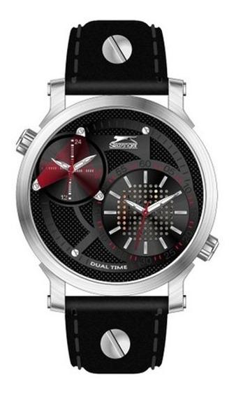 Reloj Slazenger Dual Time Black Panther Sl91359201 44mm *jcv