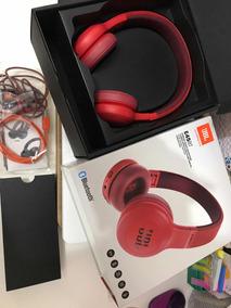 Fone On-ear Sem Fios Bluetooth Jbl E45bt Vermelho