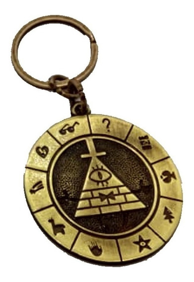 Chaveiro Gravity Falls Bill Chipher Em Metal