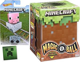 Juguete Minecraft Hot Wheels Minecart Bloque Car & Magic 8 F
