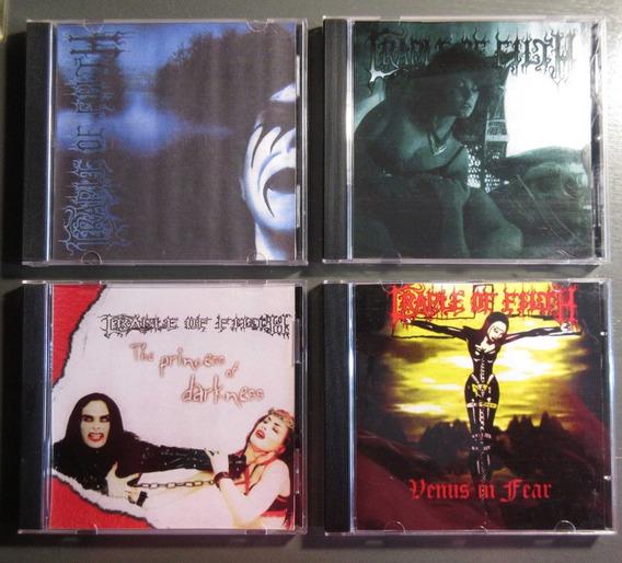 Cradle Of Filth - Lote X4 Cds Bootleg Demos Y Live Cd-r