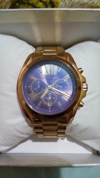 Relógio Michael Kors Fundo Azul Original.