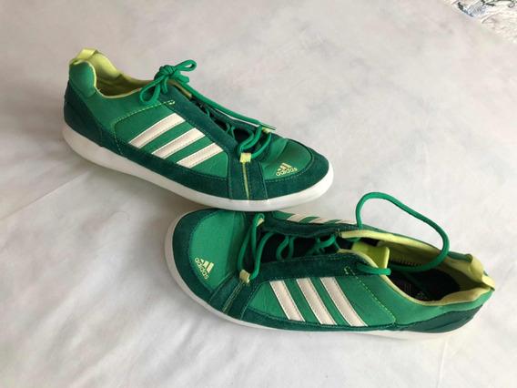 adidas Tenis Casuales Color Verde Para Caballero
