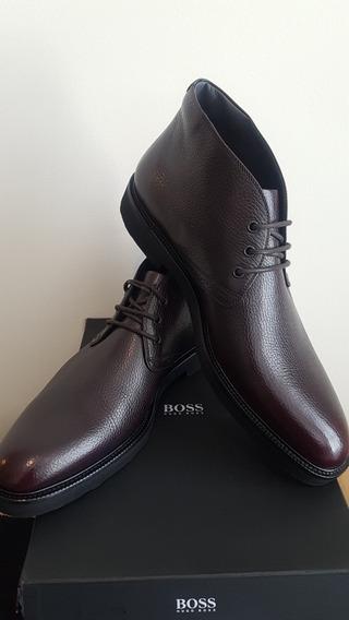 Botines Hugo Boss Black Color Vino Italianos 9.5 Y 10.5 Mex!