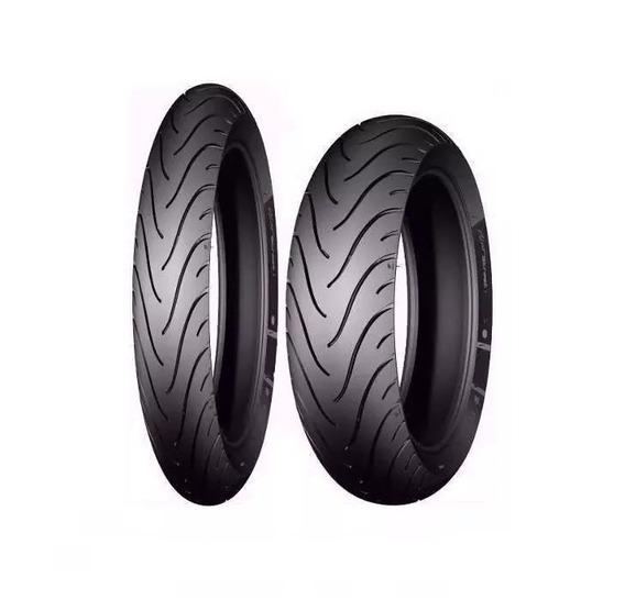 Par Pneu Biz/pop Pilot Street Michelin 110/80-14+80/90-17