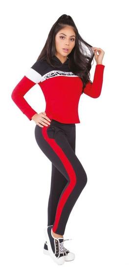 Conjunto Deportivo: Pantalón Sudadera Larga Mujer