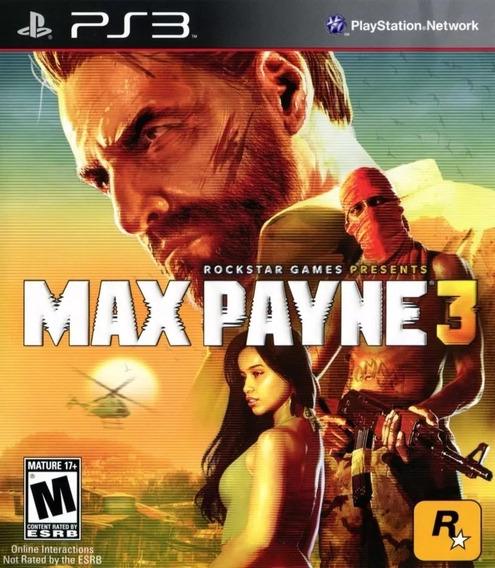 Jogo Max Payne 3 Ps3 Mídia Física Frete Grátis