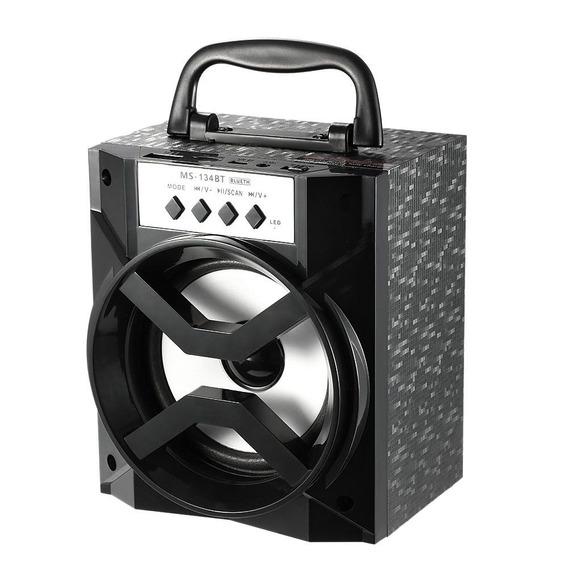 Caixa De Som Portátil Amplificada Usb Mp3 Radio Fm Auxiliar