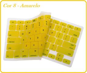 Protetor Silicone Amarelo Teclado Macbook Pro Air 13 15 17