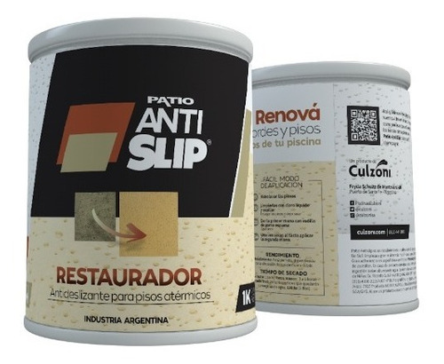 Imagen 1 de 4 de Restaurador Antideslizante Bordes Piscinas Blanco 8m2