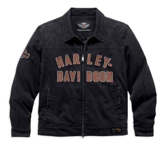Harley Davidson Jaqueta Becher Garage B&s Washed Original Importada