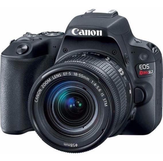 Câmera Canon Eos Sl2+18-55 Is Stm Revend Autorizada Envio Hj