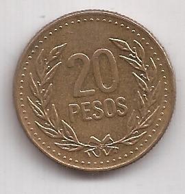 Colombia Moneda De 20 Pesos Año 1992 !!