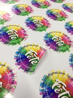 100 De 10x10cm Stickers Vinil Blanco-transparente + Envio