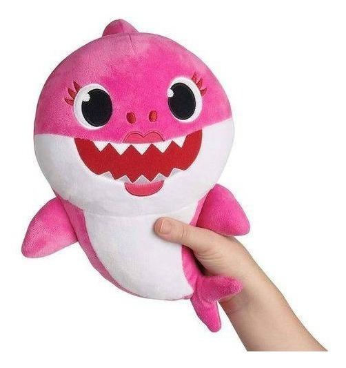 Pelucia Tubarao Baby Shark Musical Babyshark Rosa Promocao