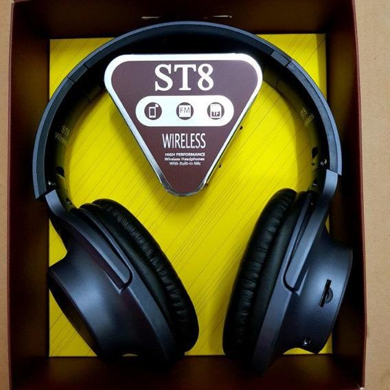 Head Set Via Bluetooth Pega Cartão Sd,radio E Recarregavel